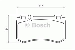 Reservdel:Mercedes S 500 Bromsbeläggsats, Bak