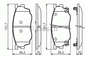 Reservdel:Mazda 626 Bromsbeläggsats, Fram