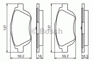 Reservdel:Citroen C3 Bromsbeläggsats, Fram
