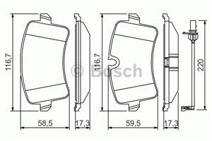 Reservdel:Audi A5 Bromsbeläggsats, Bak