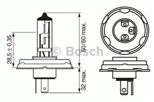 Reservdel:Ford Escort Glödlampa, fjärrstrålkastare