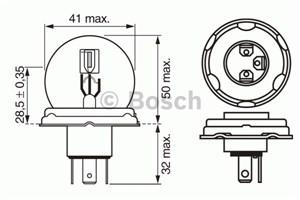 Reservdel:Bmw 316 Glödlampa, fjärrstrålkastare