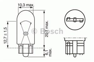 Glødelampe, kontur- / sidemarkeringslys
