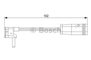 Reservdel:Mercedes S 500 Varningssensor, bromsbeläggslitage, Fram, Framaxel, Vänster