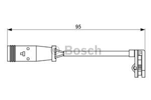 Reservdel:Mercedes Sprinter Varningssensor, bromsbeläggslitage, Bak, Bakaxel, Fram