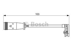 Reservdel:Mercedes Sprinter Varningssensor, bromsbeläggslitage, Bakaxel, Fram, Framaxel