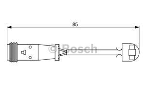 Reservdel:Mercedes Sprinter Varningssensor, bromsbeläggslitage, Bak, Bakaxel