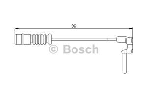 Reservdel:Mercedes C 180 Varningssensor, bromsbeläggslitage, Bak, Bakaxel, Fram, Framaxel