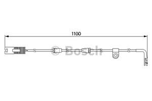 Reservdel:Bmw 520 Varningssensor, bromsbeläggslitage, Bak, Bakaxel