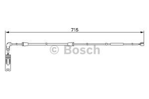 Reservdel:Bmw X5 Varningssensor, bromsbeläggslitage, Bak, Bakaxel