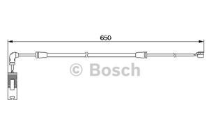 Reservdel:Bmw 330 Varningssensor, bromsbeläggslitage, Fram, Framaxel