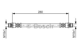 Bremseslange, Bag, Foran, På indersiden, Højre, Venstre