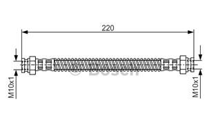 Reservdel:Citroen Ax 11 Bromsslang, Bak, Inre, Höger, Vänster