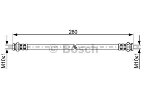 Reservdel:Mazda 626 Bromsslang, Bak, Höger, Vänster