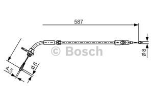 Reservdel:Mercedes A 180 Vajer, parkeringsbroms, Bak, Vänster