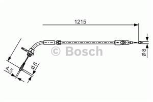 Reservdel:Mercedes A 180 Vajer, parkeringsbroms, Bak, Höger