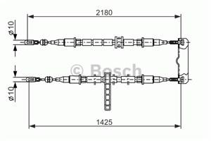 Reservdel:Saab 9-3 Vajer, parkeringsbroms, Mitt