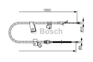 Kabel, parkeringsbremse, Høyre