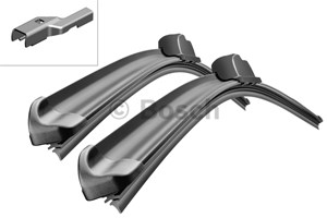 varaosat:Volkswagen Tiguan Flatblade-pyyhinsulka (rungoton), Edessä, Oikea tai vasen puoli