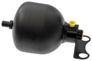 Trykkakkumulator, fjæring / demping, Bakaksel