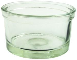 Glasskål till cav