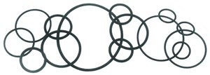 O-Ring (Pkg of 5), Johnson, Mercury