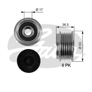 Reservdel:Ford Galaxy Frihjulskoppling, generator