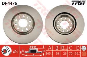Reservdel:Fiat 500 Bromsskiva sport, EBC Turbo Groove, Framaxel
