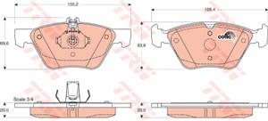 Reservdel:Mercedes E 280 Bromsbeläggsats, Fram