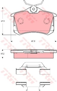 Reservdel:Volkswagen Beetle Bromsbeläggsats, Bak