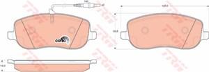 Reservdel:Citroen C8 Bromsbeläggsats, Fram