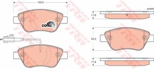 Reservdel:Fiat 500 Bromsbeläggsats, Bak, Fram