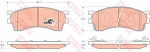 Reservdel:Mazda 6 Bromsbeläggsats, Fram