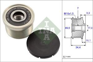 Reservdel:Bmw 318 Frihjulskoppling, generator