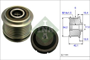 Reservdel:Fiat 500 Frihjulskoppling, generator