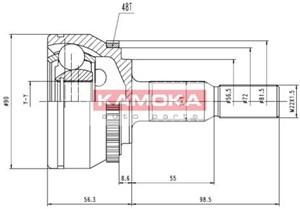Reservdel:Volvo 850 Drivknut, Yttre