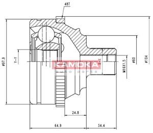 Reservdel:Volkswagen Transport Drivknut, Framaxel, Yttre
