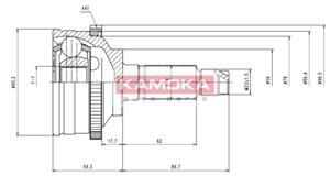 Reservdel:Mazda 626 Drivknut, Framaxel, Yttre