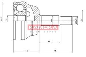 Reservdel:Audi 80 Drivknut, Bakaxel, Framaxel, Yttre