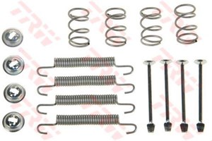 Accessory Kit, park brake shoes, Rear axle, Outer, Left or right, Lower front axle