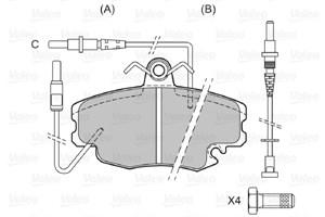 Brake Pad Set, disc brake, Front