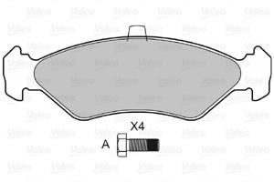Reservdel:Mazda 121 Bromsbeläggsats, Fram