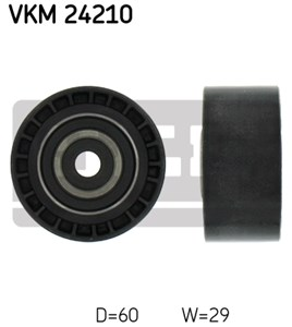 Medløberhjul, tandrem, Oppe til højre