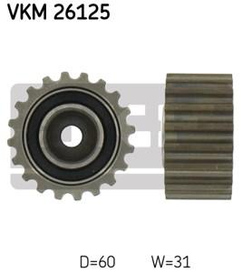 Medløberhjul, tandrem, Nede til venstre