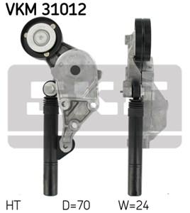 Reservdel:Volkswagen Beetle Spännrulle, flerspårsrem, Upptill, Vänster