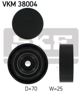 Medløberhjul, multi-V-rem, Højre, Midten, Oppe, Venstre