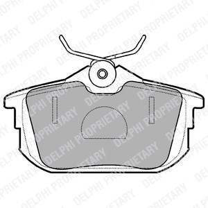 Brake Pad Set, disc brake, Rear