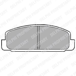 Reservdel:Mazda 626 Bromsbeläggsats, Bak, Fram