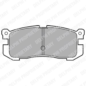 Reservdel:Mazda 626 Bromsbeläggsats, Bak