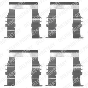 Tibehørsett, skivebremse belegg, Foran, Framaksel